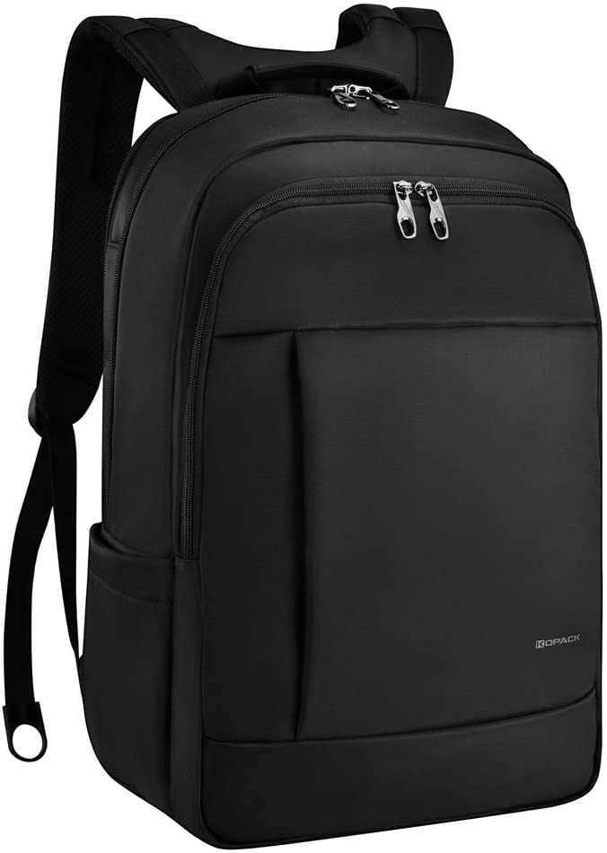 KOPACK Deluxe Black Water Resistant Laptop Backpack