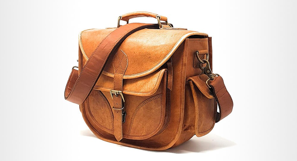 Rofozzi - Leather Camera Bag for Women