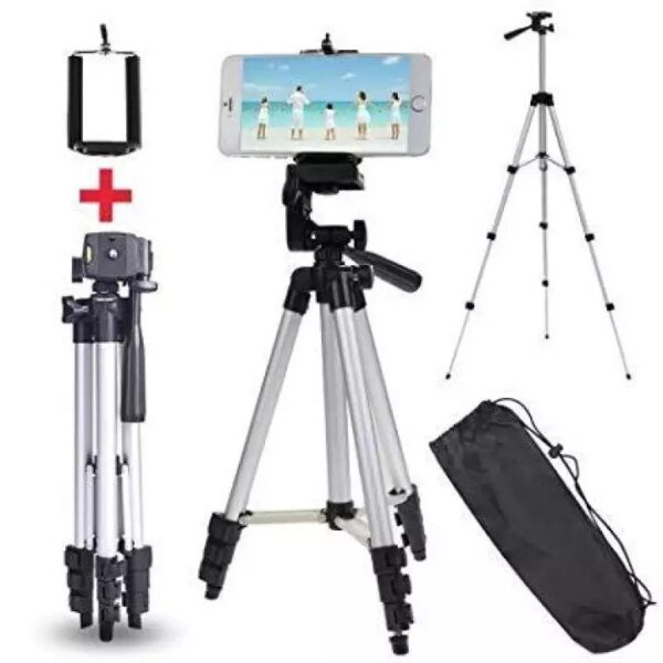 3110-Tripod stand for Mobile and DSLR with Mobile holder and Pouch