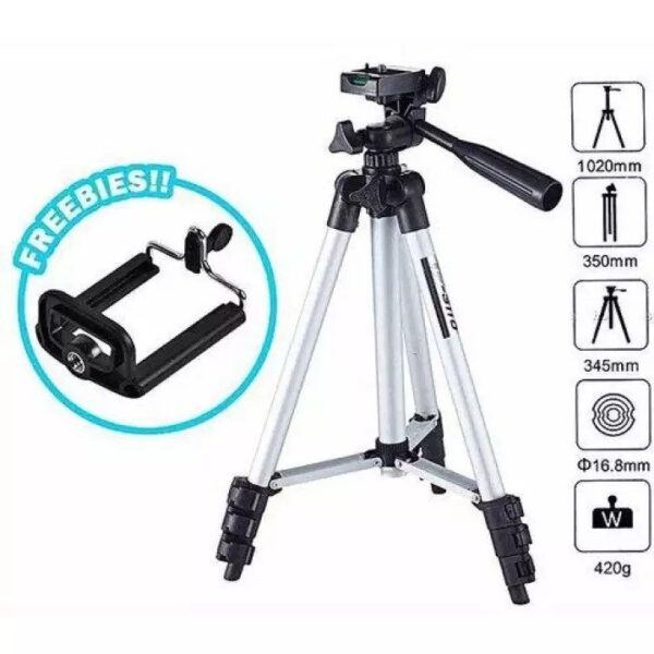 Tripod stand for Mobile and DSLR with Mobile holder and Pouch - 3110